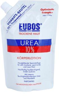 Eubos Dry Skin Urea 10% loção corporal hidratante para pele seca e com prúrido recarga