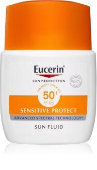 Eucerin Sun Sensitive Protect ochranný zmatňujúci fluid na tvár SPF 50+