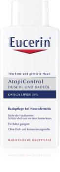 Eucerin AtopiControl óleo de banho e duche para pele seca e com purido