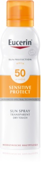 Eucerin Sun Sensitive Protect transparentní mlha na opalování SPF 50