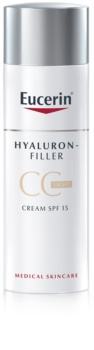 Eucerin Hyaluron-Filler СС крем проти глибоких зморшок SPF 15