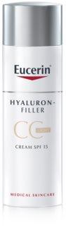 Eucerin Hyaluron-Filler crema CC contra arrugas marcadas SPF 15