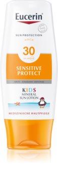 Eucerin Sun Kids loção protetora com micropigmentos para crianças  SPF 30