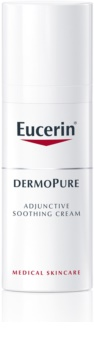 Eucerin DermoPure успокояващ крем при дерматологично лечение на акне