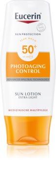 Eucerin Sun Photoaging Control екстра нежен лосион за слънчеви бани SPF 50+
