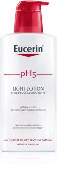 Eucerin pH5 leite corporal leve  para peles secas e sensíveis