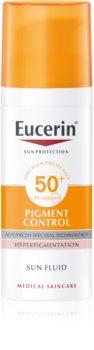 Eucerin Sun Pigment Control ochranná emulze proti hyperpigmentaci pleti SPF 50+