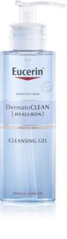 Eucerin DermatoClean gel de curatare facial cu efect de hidratare