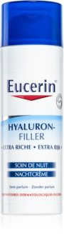 Eucerin Hyaluron-Filler crema de noche antiarrugas  para pieles secas y muy secas