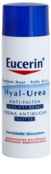 Eucerin Hyal-Urea creme de noite antirrugas para pele seca a atópica