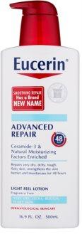 Eucerin Smoothing Repair leite corporal leve  para pele seca
