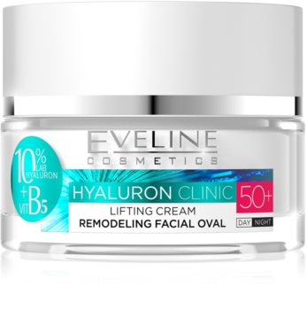 Eveline Cosmetics Hyaluron Clinic Day and Night Lifting Cream 50+