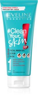 Eveline Cosmetics #Clean Your Skin gel de limpeza 3 em 1