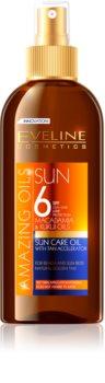 Eveline Cosmetics Sun Care napozó olaj spray -ben SPF 6
