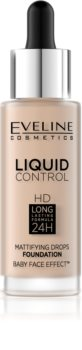 Eveline Cosmetics Liquid Control folyékony make-up pipettával