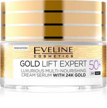 Eveline Cosmetics Gold Lift Expert krem przeciwzmarszczkowy na dzień i na noc 50+