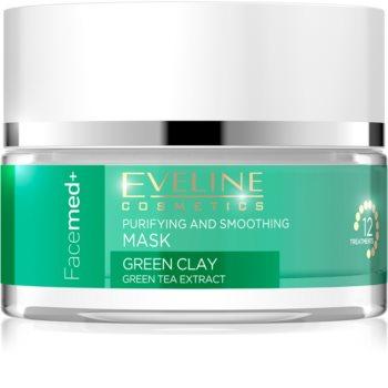 Eveline Cosmetics FaceMed+ tisztító és kisimító arcmaszk zöld agyaggal