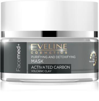 Eveline Cosmetics FaceMed+ mască activă și detoxifiantă cu carbon activ
