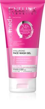 Eveline Cosmetics FaceMed+ почистващ гел 3 в 1 с хиалуронова киселина