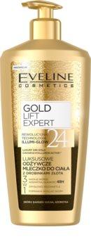 Eveline Cosmetics Gold Lift Expert nährende Körpercrem mit Goldpuder