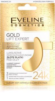Eveline Cosmetics Gold Lift Expert szemmaszk a duzzanat és sötét karikák ellen