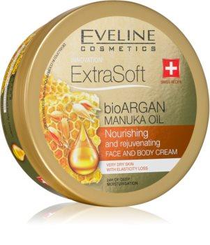 Eveline Cosmetics Extra Soft увлажняющий крем для тела и лица с аргановым маслом
