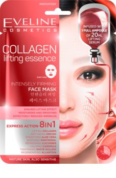 Eveline Cosmetics Sheet Mask Collagen Lifting And Firming Mask With Collagen
