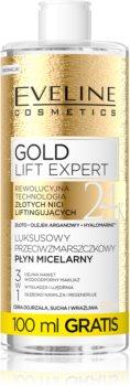 Eveline Cosmetics Gold Lift Expert очищаюча міцелярна вода для зрілої шкіри