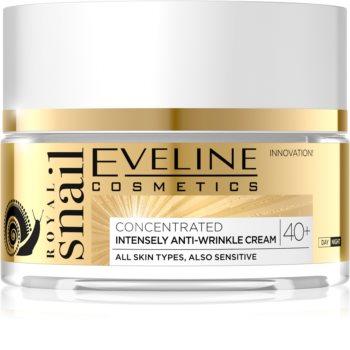 Eveline Cosmetics Royal Snail денний та нічний крем проти зморшок 40+
