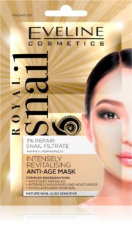 Eveline Cosmetics Royal Snail revitalisierende Gesichtsmaske mit Verjüngungs-Effekt