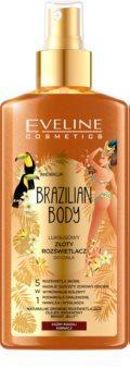 Eveline Cosmetics Brazilian Body feuchtigkeitsspendendes Bodyspray glitzernd