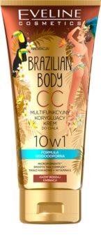 Eveline Cosmetics Brazilian Body CC Cream für den Körper mit leichtem Bräunungseffekt