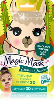 Eveline Cosmetics Magic Mask Lama Queen mască normalizatoare - matifiantă 3D