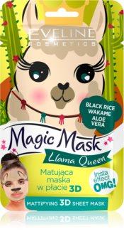 Eveline Cosmetics Magic Mask Lama Queen masque normalisant-matifiant 3D