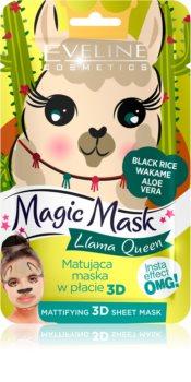 Eveline Cosmetics Magic Mask Lama Queen matirajuća maska za normalizaciju kože 3D