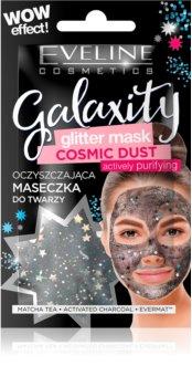 Eveline Cosmetics Galaxity Glitter Mask tisztító maszk csillámporral