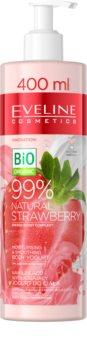 Eveline Cosmetics Bio Organic Natural Strawberry йогурт для тела для сухой и раздраженной кожи