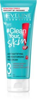 Eveline Cosmetics #Clean Your Skin хидратиращ матиращ крем