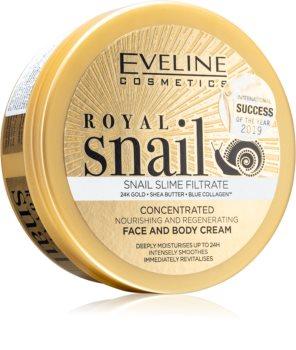 Eveline Cosmetics Royal Snail creme intensivamente nutritivo para rosto e corpo
