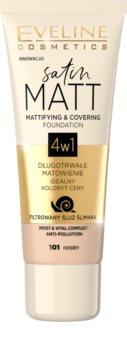 Eveline Cosmetics Satin Matt mattierendes Make-up mit Schneckenextrakt