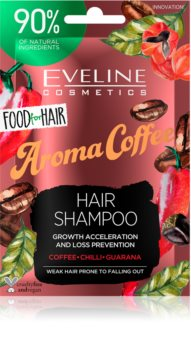 Eveline Cosmetics Food for Hair Aroma Coffee Fortifying Shampoo for Weak Hair Prone to Falling Out