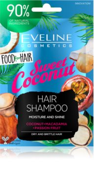 Eveline Cosmetics Food for Hair Sweet Coconut shampoing hydratant pour cheveux secs