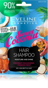 Eveline Cosmetics Food for Hair Sweet Coconut shampoo idratante per capelli secchi