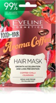 Eveline Cosmetics Food for Hair Aroma Coffee Stärkende Kur für schwaches Haar mit Neigung zu Haarausfall