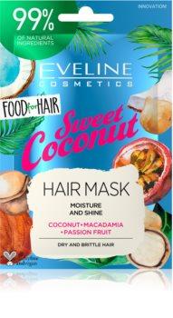 Eveline Cosmetics Food for Hair Sweet Coconut feuchtigkeitsspendende Maske für die Haare