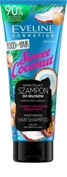 Eveline Cosmetics Food for Hair Sweet Coconut hidratáló sampon vékonyszálú és normál hajra