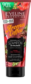 Eveline Cosmetics Food for Hair Aroma Coffee energetizáló sampon gyenge, vékonyodó és töredezett hajra