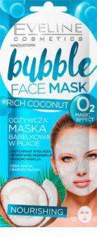 Eveline Cosmetics Bubble Mask Rich Coconut vyživující plátýnková maska s kokosem