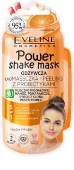 Eveline Cosmetics Power Shake peelingová pleťová maska s probiotiky