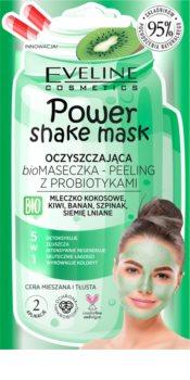 Eveline Cosmetics Power Shake čisticí maska a peeling s probiotiky